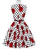 GRACE KARIN® Abito a Ruota in Cotone A-Line Stile Vintage Anni'50 Audrey Hepbun XS~Taglie Forti 4X