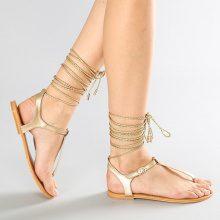 Sandali infradito con allacciatura alla caviglia