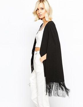 Lavish Alice - Blazer a mantella con nappe sul fondo