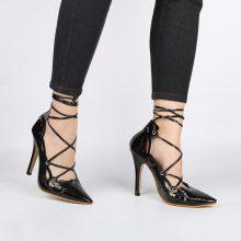 Scarpe con tacco alto laccate