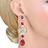 Ever Faith zirconi Art Deco orecchini orecchino