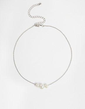 ASOS - Girocollo delicato con catena e perle
