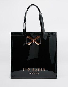 Ted Baker - Borsa icona grande tinta unita con fiocco
