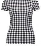 GINGHAM - T-shirt con stampa - black