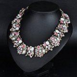 Houda Europa collare di lusso, ciondolo alla moda, retrò ed elegante, gioielli vintage con diamanti, cristalli in vetro colorati, collana per donne