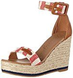 WranglerKay Sandal Stripes - Sandali Donna, Rosso (Rot (Red/Off White)), 37 EU
