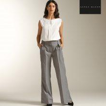 Pantaloni con pinces mélange