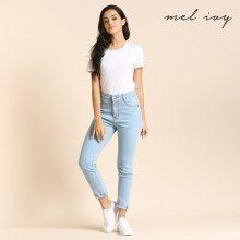 Jeans elasticizzati a vita alta
