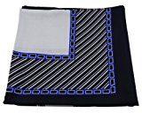 signore sciarpa foulard blu scuro grigio argento 90 x 90 - panno panno-nicki - sciarpa