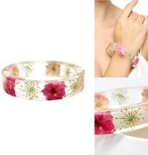 Bracciale con fiori secchi