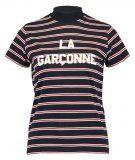 LA GARCONNE - T-shirt con stampa - navy