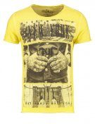 NEW YORK  - T-shirt con stampa - yellow