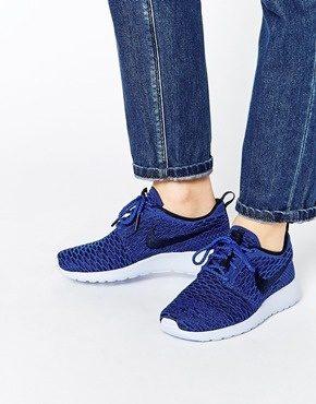 Nike - Roshe Run Flyknit - Scarpe da ginnastica blu