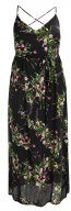 ESME FLORAL CROSS BACK  - Vestito lungo - black pattern