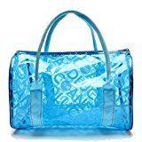 Hugestore - Borsa a secchiello da spiaggia in PVC trasparente impermeabile, portaoggetti o borsa nuoto.