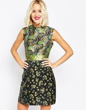 ASOS - Mix And Match - Vestito svasato in jacquard