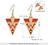 lureme® Creativo Oro Tone Triangolo Drip arancione Rosa Enamel Dangle Orecchini(02005185)