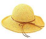 Urban GoCo Donne Moda Estate Spiaggia Bowknot Tesa Larga Pieghevole Cappello Della Benna Cappello Da Sole Di Paglia