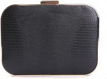 Clutch a cofanetto in similpelle pitonata