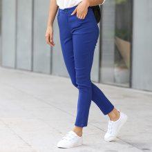 Pantaloni skinny a vita alta