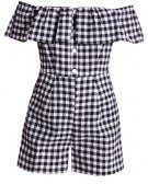 GINGHAM BARDOT - Tuta jumpsuit - black