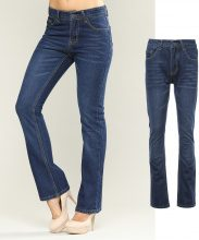 Jeans bootcut scuri washed