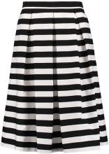 REPEAT STRIPED - Gonna a pieghe - black