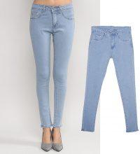 Jeans skinny washed chiari