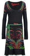 LORENA - Vestito di maglina - negro