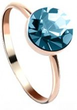 Anello bagnato oro con Swarovski® Elements
