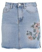 MAGGIE EMBR - Gonna di jeans - mid blue