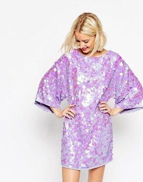 ASOS - Vestitino a kimono con paillettes