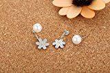 Orecchini in argento Sterling con zirconi e perla Shell goccia orecchini per donne e ragazze–SY064E1
