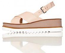 FIND Crossover Platform, Sandali con Cinturino alla Caviglia Donna