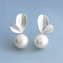 Orecchini in argento 925 con perla d'acqua dolce