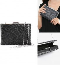 Clutch a cofanetto con paillettes