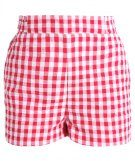 PAPERBAG GINGHAM - Shorts - red