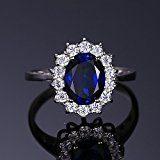 JewelryPalace Principessa Diana William Kate Middleton Sintetico Zaffiro Alessandrite Rubino Artificiale Smeraldo Anello di Promessa 925 Argento Sterling