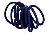 Donna, confezione da 10, colore: blu senza strappo-Elastici per capelli, colore: blu Navy