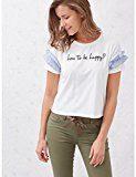 Oltre: T-shirt donna maniche corte con rouches. (Italian size)