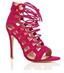 Donna tacco alto cinturino gladiatore rinumerore stringhe sandali scarpe numero
