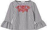 FIND Blusa Motivo Vichy Donna, Multicolore (Black/white Check), 46 (Taglia Produttore: Large)