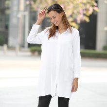 Blusa lunga con spacchi laterali