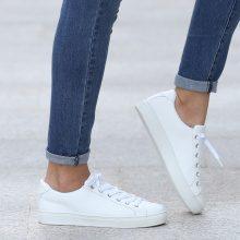 Sneakers a tinta unita