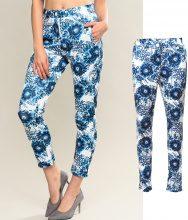 Pantaloni 7/8 con stampa floreale