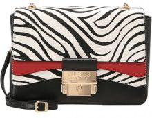 Guess Luxe GINEVRA SMALL FLAP Borsa a tracolla white