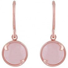 Ivy Gems Donna 925 argento Rotonda rosa Quarzo