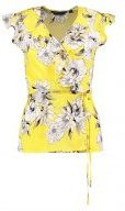 FLORAL WRAP - Camicetta - yellow