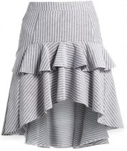 Miss Selfridge EXTREME STRIPE RUFFLE Gonna a campana multi brigh