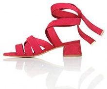 FIND Sandali con Tacco Donna, Rosso (Red), 37 EU